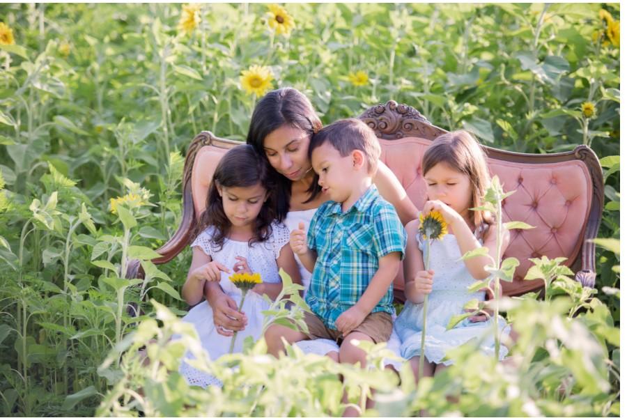 LW Family in flowers